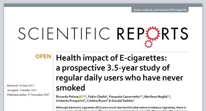 rapporto sulla sigaretta lettronica - studio italiano