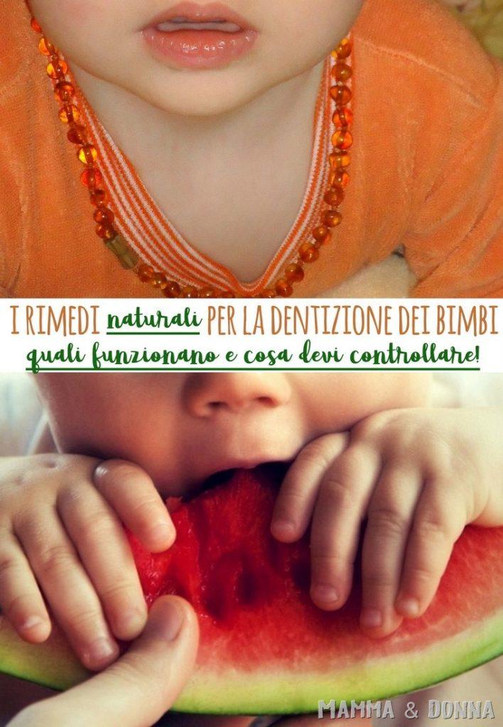 Rimedi naturali per la dentizione dei bambini